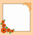 flower corner border vector image vector image