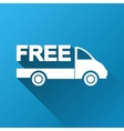 Free Delivery Gradient Square Icon vector image