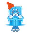 frozen smartphone vector image