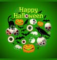 halloween round design vector image