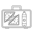 handbag lunch icon outline style vector image