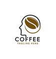 head shape coffee idea design logo vector image vector image
