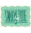 Hello spring time vector image vector image