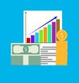 income increase chart arrow vector image