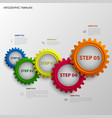 info graphic with abstract colored design gears vector image