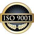 iso 9001 icon vector image vector image