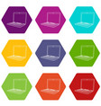 laptop icons set 9 vector image vector image