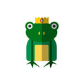 magic frog from princess vector image vector image