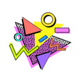 memphis 80s composition vector image