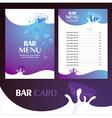 menu bar card vector image vector image