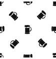 mug of dark beer pattern seamless black vector image vector image