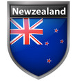 new zealand flag on button design vector image vector image