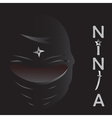 ninja cartoon vector image