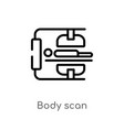 outline body scan icon isolated black simple line vector image vector image