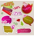 Paper bubbles for speech vector image vector image