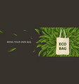 pollution problem concept say no to plastic bags vector image