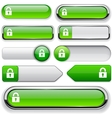 Protect high-detailed web button collection vector | Price: 1 Credit (USD $1)