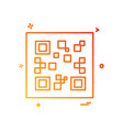 qr code icon design vector image vector image