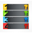 Question mark template vector image