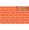 realistic texture of orange brick wall vector image vector image