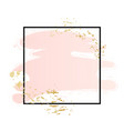 rose and pink background stroke square frame
