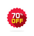 Sale tag badge template 70 percent off