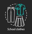 school clothes uniform chalk concept icon vector image vector image