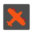 Screw Aeroplane Rounded Square Button vector image vector image