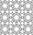 Seamless monochrome ethnic pattern vector image vector image