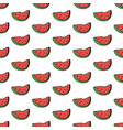 seamless pattern background with watermelon slice vector image