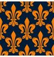 Seamless victorian fleur-de-lis flowers pattern vector image vector image