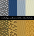 seigaiha luxury pattern collection vector image