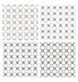 set four delicate seamless patterns in arabic vector image vector image