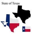 set maps texas usa flag on map vector image vector image