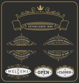 Set of vintage frame and labels design vector image vector image