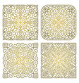 set square gold ornament patterns vector image vector image