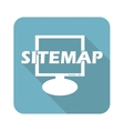 Sitemap square icon vector image vector image