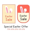 special easter offer with two sale card vector image vector image
