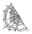 spiderweb icon web made a spider vector image vector image