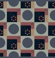 squares and circles seamless pattern vector image