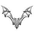 stylized image doodle bat bat tribal tattoo vector image vector image
