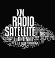 terk xm satellite radio antenna text background vector image vector image