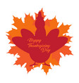 thanksgiving day label with a turkey silhouette vector image vector image