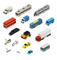 transport car 3d icons set isometric view vector image vector image