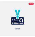 two color visitor icon from blogger and vector image vector image