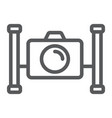 underwater camera line icon diving and underwater vector image vector image