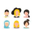 user female avatar profile picture icon set vector image vector image