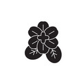 violet flower black concept icon violet vector image