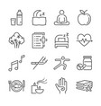 wellness life line icon set vector image