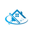 window washing cleaning logo icon vector image